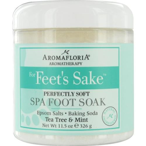 For Feet's Sake Perfectly Soft Spa Foot Soak Blend Of Tea Tree And Mint 11.5 Oz Jar By Aromafloria freeshipping - 123fragrance.net