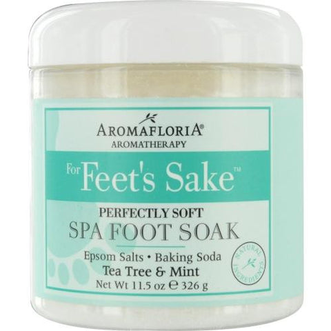 For Feet's Sake Perfectly Soft Spa Foot Soak Blend Of Tea Tree And Mint 11.5 Oz Jar By Aromafloria