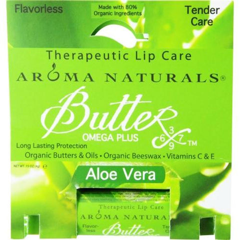 Aloe Vera Aromatherapy Flavorless Tender Care Therapeutic Lip Balm .15 Oz By