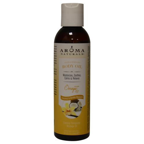 Coconut & Vanilla Blossom Aromatherapy Calming Therapeutic Massage Oil 6 Oz By