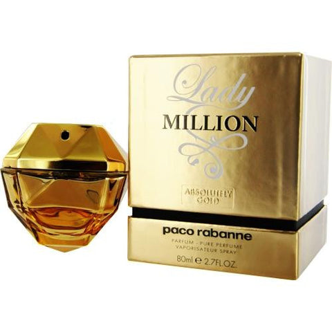 Paco Rabanne Lady Million Absolutely Gold By Paco Rabanne Parfum Spray 2.7 Oz