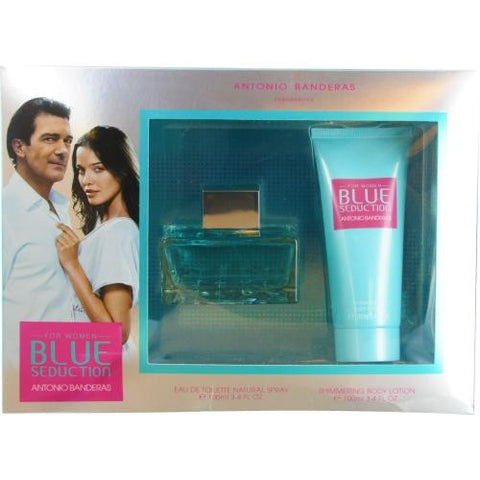 Antonio Banderas Gift Set Blue Seduction By Antonio Banderas freeshipping - 123fragrance.net