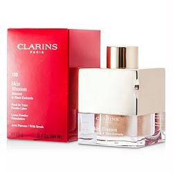 Clarins Skin Illusion Mineral & Plant Extracts Loose Powder Foundation (with Brush) - # 109 Wheat --13g-0.4oz By Clarins