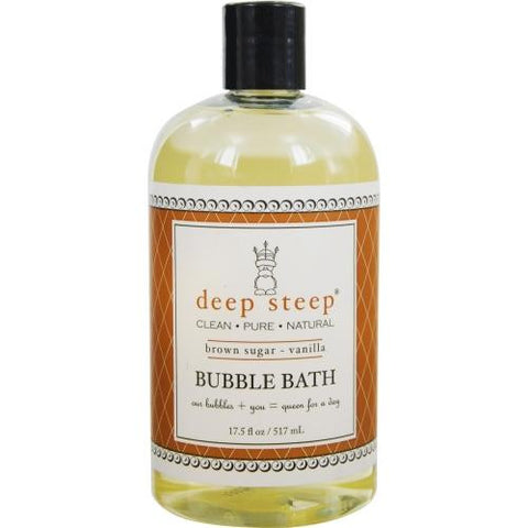 Deep Steep Brown Sugar-vanilla Organic Honey Bubble Bath 17.5 Oz By Deep Steep