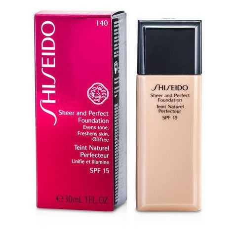 Shiseido Sheer & Perfect Foundation Spf 18 - # I40 Natural Fair Ivory --30ml-1oz By Shiseido
