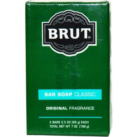 Brut By Faberge Bar Soap 3.5 Oz Each - Pack Of 2 freeshipping - 123fragrance.net