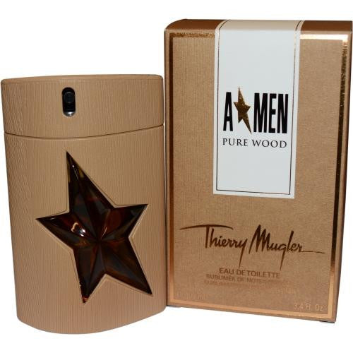 Angel Men Pure Wood By Thierry Mugler Edt Spray 3.4 Oz