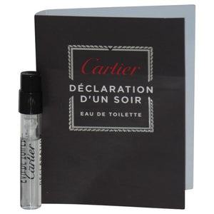 Declaration D'un Soir By Cartier Edt Spray Vial On Card