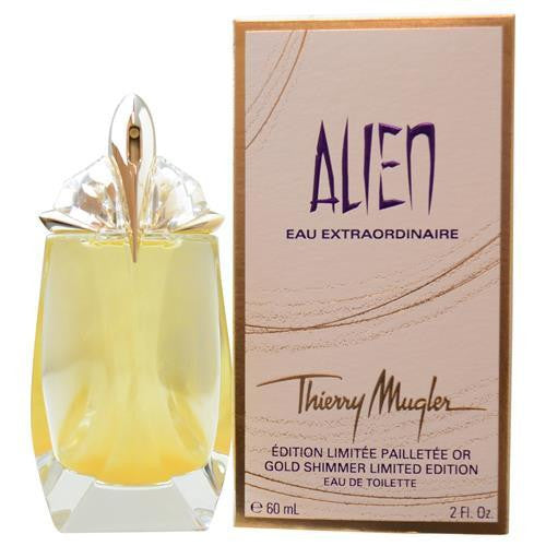 Alien Eau Extraordinaire By Thierry Mugler Edt Spray Refillable 2 Oz (gold Shimmer Edition)