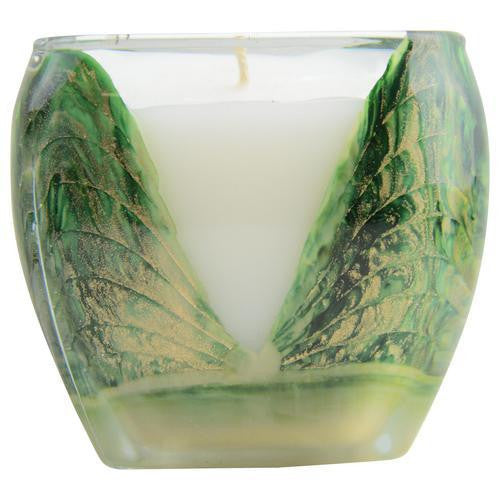 Wreath Green Cascade Candle By