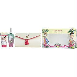 Escada Fiesta Carioca By Escada Edt Spray 3.3 Oz & Body Lotion 5 Oz & Clutch (25th Anniversary Summer Editions)
