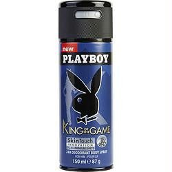 Playboy King Of The Game By Playboy Skin Touch Body Spray 5 Oz