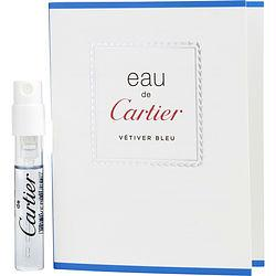 Eau De Cartier Vetiver Bleu By Cartier Edt Spray Vial On Card