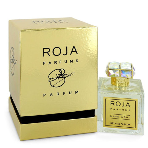 Roja Musk Aoud Crystal by Roja Parfums Extrait De Parfum Spray (Unisex) 3.4 oz for Women
