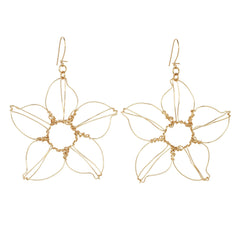Anne Woodman gold lily earrings