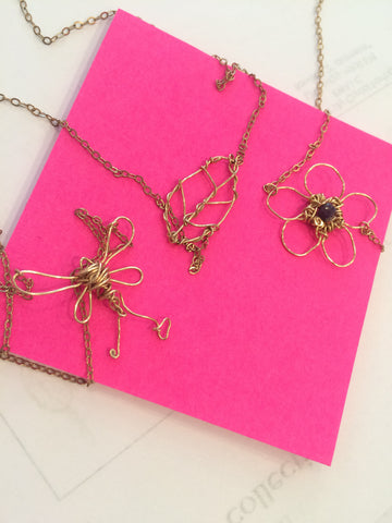 3 anne woodman necklaces