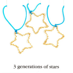 3 generations of stars necklace set