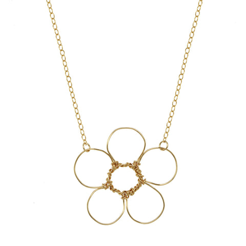 Anne Woodman happy flower necklace