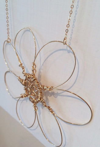Gold wire flower