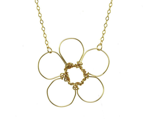 anne woodman signature flower necklace