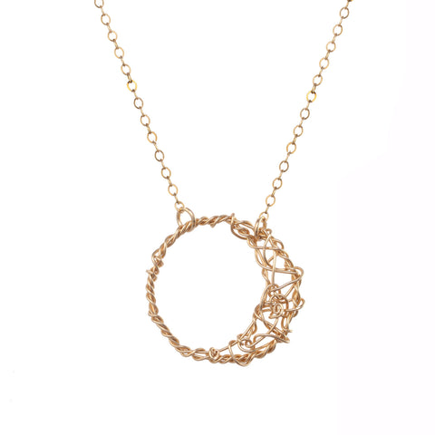 anne woodman moon necklace