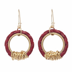 red bolo earrings