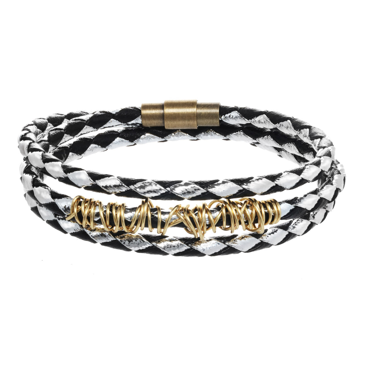 Triple-Wrap Braided Bangle