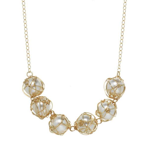 Multi-Wrapped Pearl Necklace