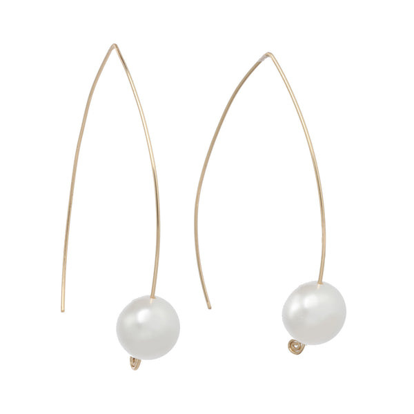 Pearl Wishbone Earrings