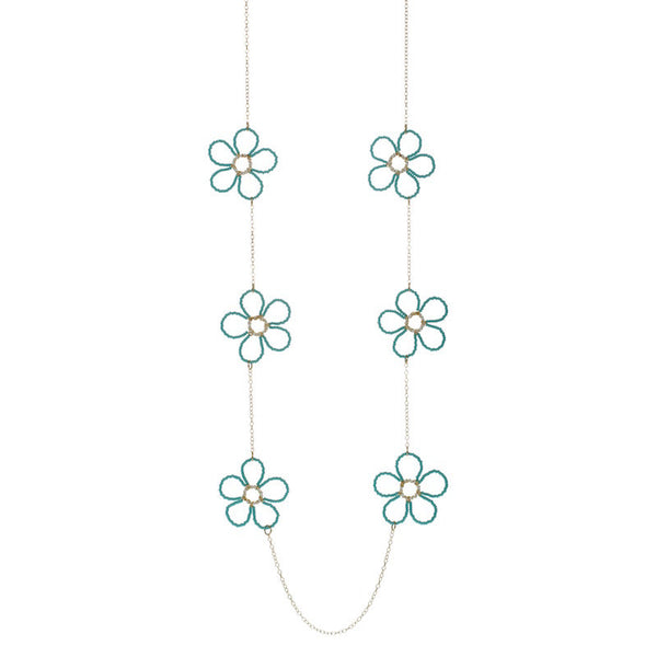 Long Beaded Flower Chain