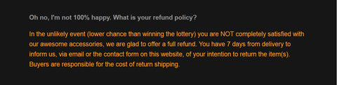 Lupine & Co. refund policy