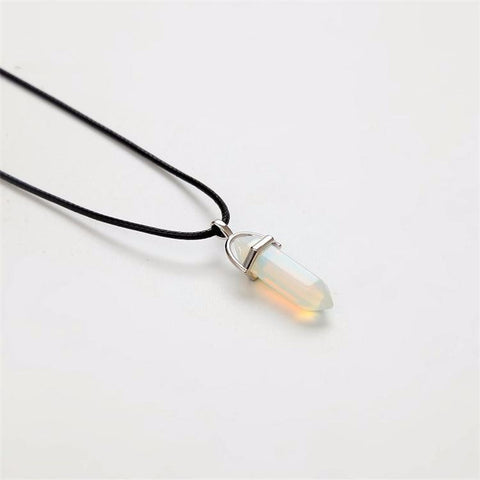 Atas Quartz necklace - white