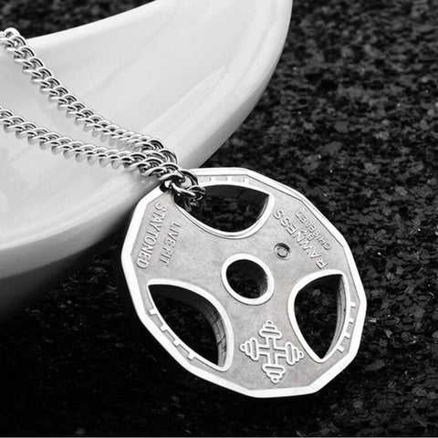 Do You Even Lift Bodybuilding necklace - silver