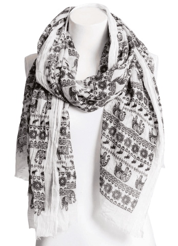 Beautiful Black & White Lightweight Elephant Boho - Dimension Dream Seekers