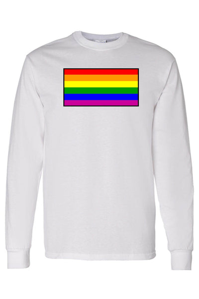 Unisex Long Sleeve Shirt Gay Pride Rainbow Flag - Dimension Dream Seekers