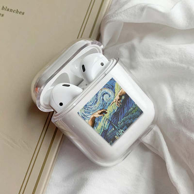Clear Case For Airpods Art Transparent Case For AirPods 1/2 Case Hard PC Protective Cover Wireless Earphone Case