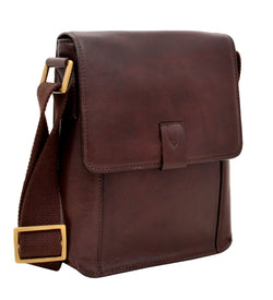 Aiden Small Leather Messenger Cross Body Bag - Dimension Dream Seekers