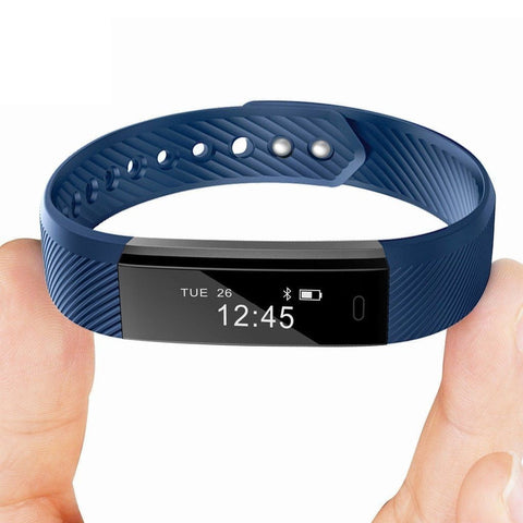 Fitness Tracker Smart Bracelet ID115 Bluetooth Self-Timer Smart Watch Tracker - Dimension Dream Seekers
