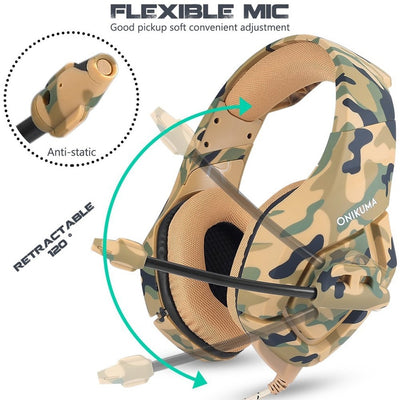 Camouflage Gaming Headphones