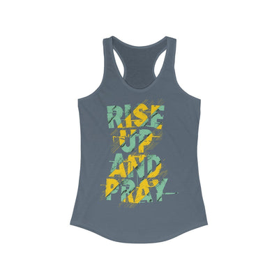 Rise Up and Pray Quote Racerback Tank Top Tee - Dimension Dream Seekers