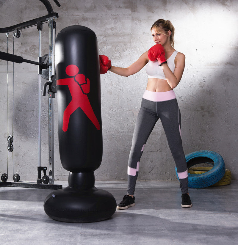 Fitness Tool Inflatable Boxing Punching Bag Stress Training Fitness Vertical  Boxing Bag PVC Thickening Boxing Pillar Tumbler