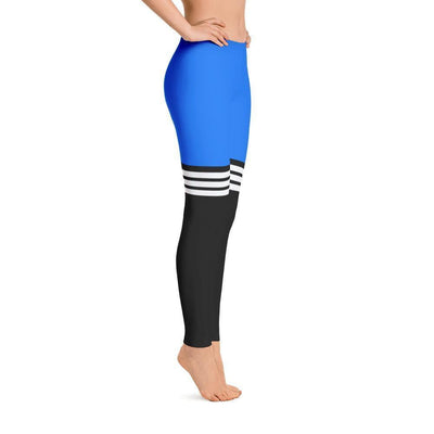 All Day Comfort Full Length Leggings Pacific Supply Stripe - Dimension Dream Seekers