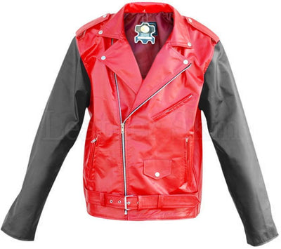 Red Brando Quilted Leather Jacket - Dimension Dream Seekers