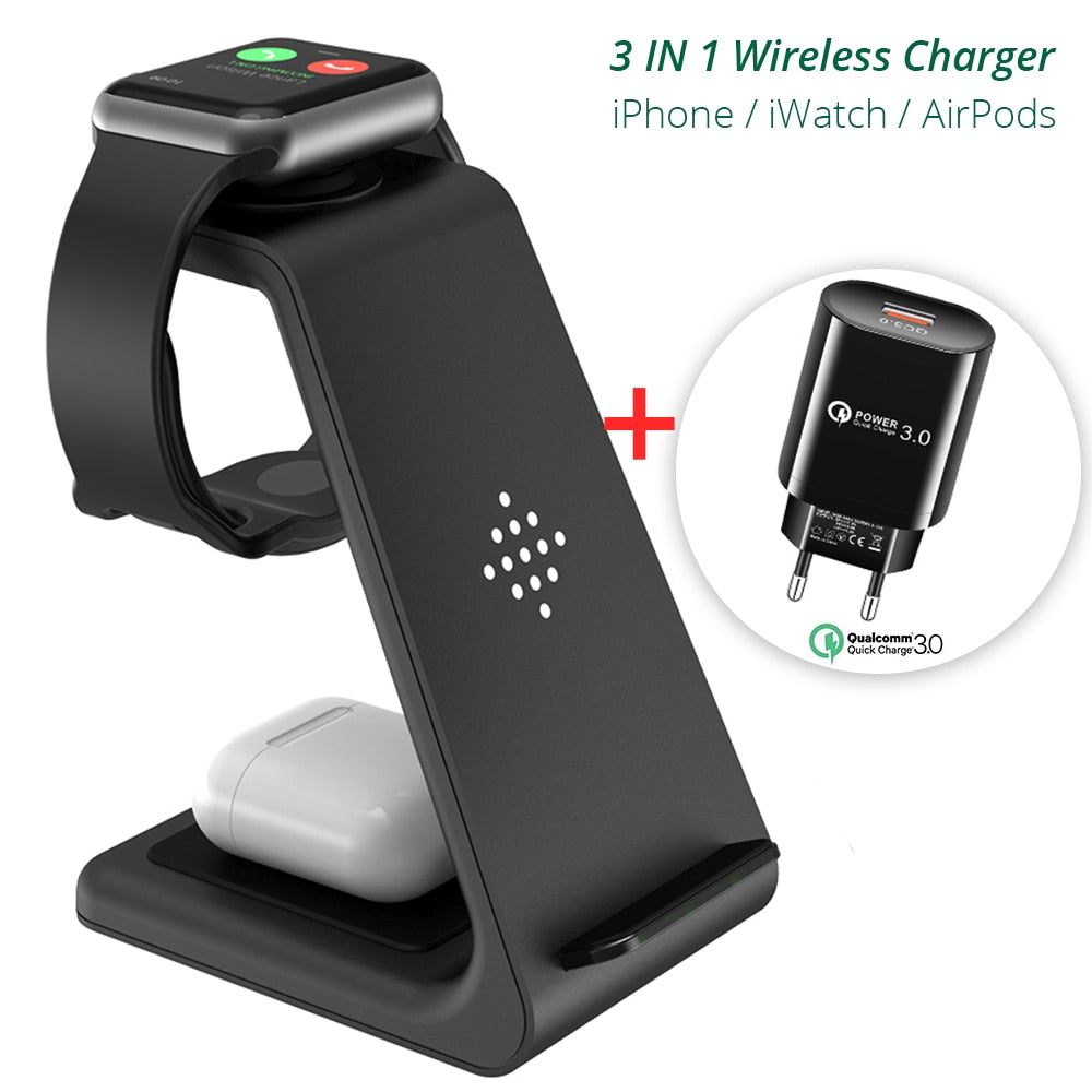 Qi 3 in 1 Wireless Charging Station