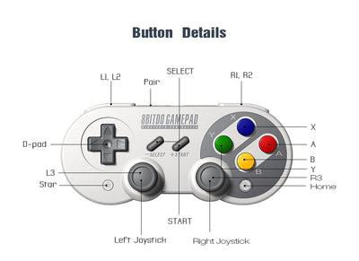 Bluetooth Game Controller With Joystick For Android iPhone Steam