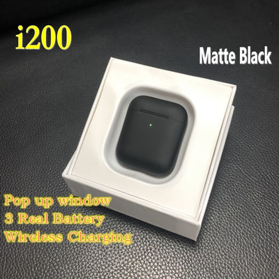 Matte black i200 TWS earphone