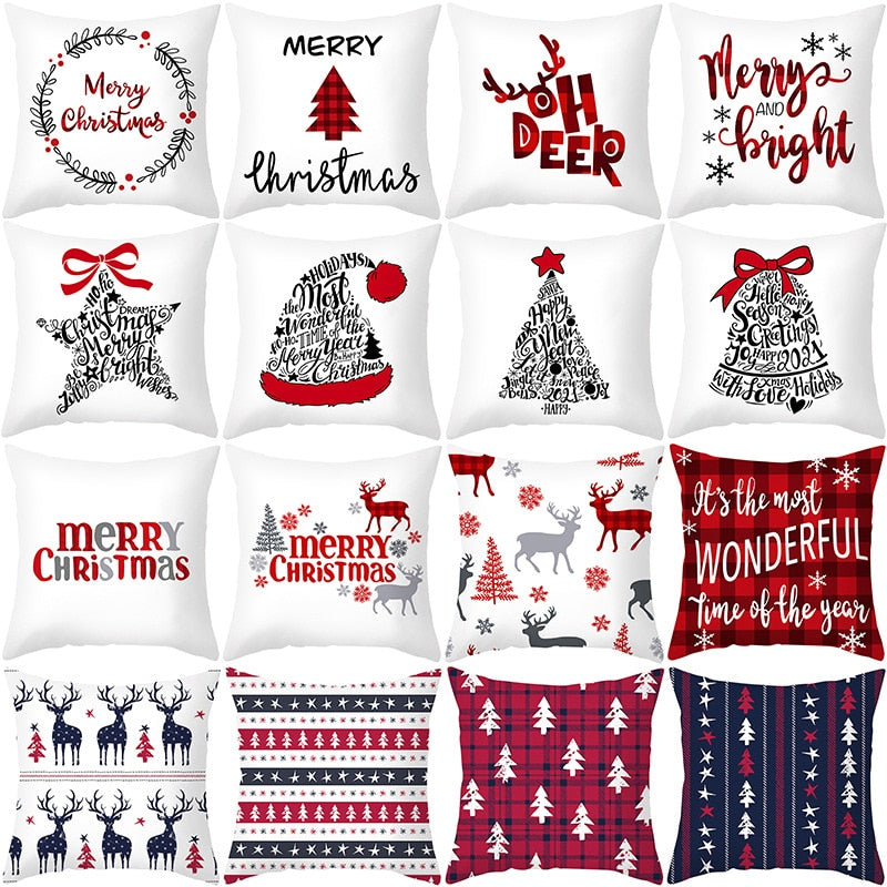 45x45cm Cartoon Christmas Pillowcase