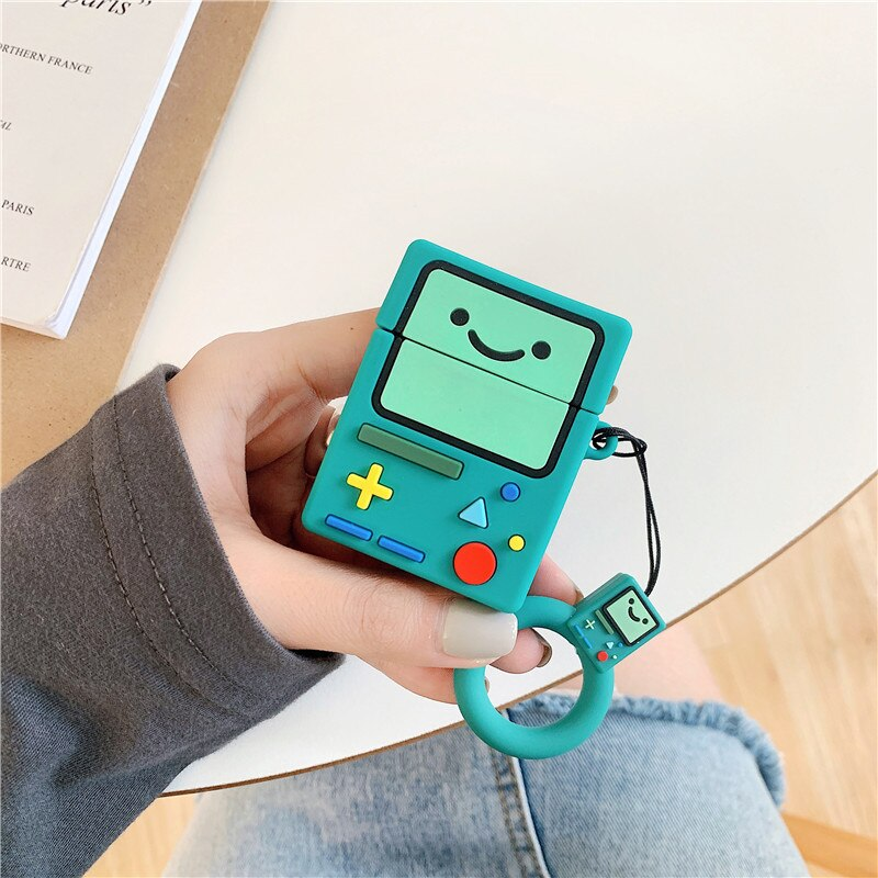 For AirPod 2 Case 3D Adventure Time Game Machine Cartoon Soft Silicone Earphone Cases For Apple Airpods Case Cute Cover Funda