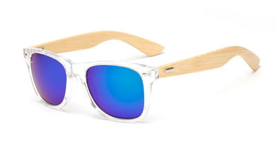 Unisex Square Bamboo Wood Sunglasses