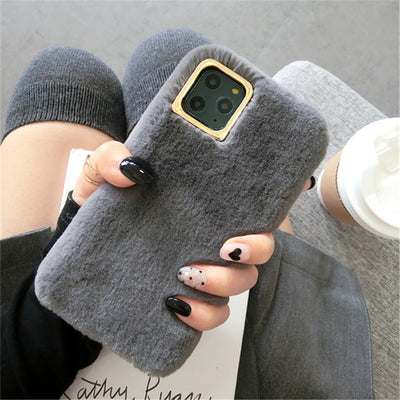 Lovebay Plush Furry Fluffy Fur Phone Case For iPhone